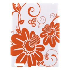 Floral Rose Orange Flower Apple Ipad 3/4 Hardshell Case by Alisyart