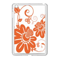 Floral Rose Orange Flower Apple Ipad Mini Case (white) by Alisyart