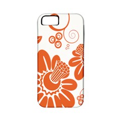 Floral Rose Orange Flower Apple Iphone 5 Classic Hardshell Case (pc+silicone) by Alisyart
