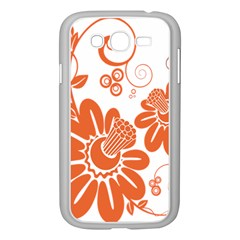 Floral Rose Orange Flower Samsung Galaxy Grand Duos I9082 Case (white) by Alisyart