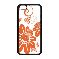 Floral Rose Orange Flower Apple Iphone 5c Seamless Case (black) by Alisyart