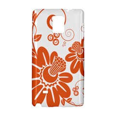Floral Rose Orange Flower Samsung Galaxy Note 4 Hardshell Case by Alisyart