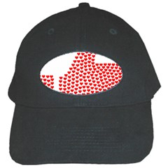Heart Love Valentines Day Red Sign Black Cap by Alisyart