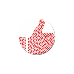 Heart Love Valentines Day Red Sign Golf Ball Marker by Alisyart