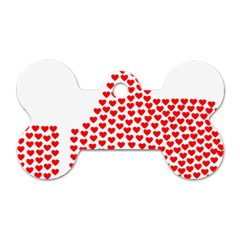 Heart Love Valentines Day Red Sign Dog Tag Bone (one Side) by Alisyart