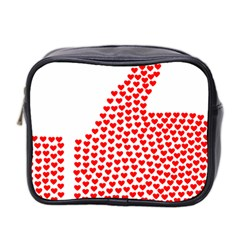 Heart Love Valentines Day Red Sign Mini Toiletries Bag 2 Side by Alisyart