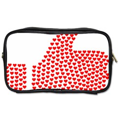 Heart Love Valentines Day Red Sign Toiletries Bags by Alisyart