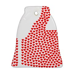 Heart Love Valentines Day Red Sign Ornament (bell) by Alisyart