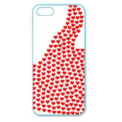 Heart Love Valentines Day Red Sign Apple Seamless Iphone 5 Case (color) by Alisyart