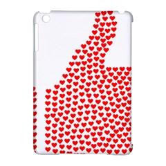 Heart Love Valentines Day Red Sign Apple Ipad Mini Hardshell Case (compatible With Smart Cover) by Alisyart