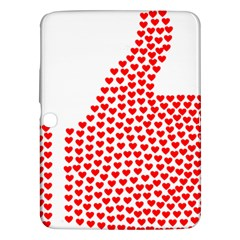 Heart Love Valentines Day Red Sign Samsung Galaxy Tab 3 (10 1 ) P5200 Hardshell Case  by Alisyart