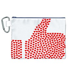 Heart Love Valentines Day Red Sign Canvas Cosmetic Bag (xl) by Alisyart