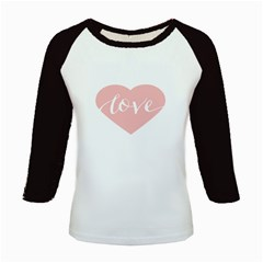Love Valentines Heart Pink Kids Baseball Jerseys by Alisyart