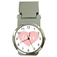 Love Valentines Heart Pink Money Clip Watches by Alisyart