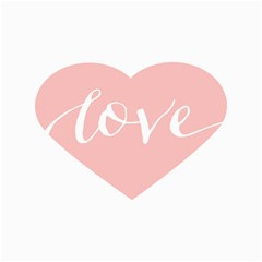 Love Valentines Heart Pink Canvas 12  X 18   by Alisyart