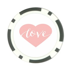 Love Valentines Heart Pink Poker Chip Card Guard (10 Pack) by Alisyart