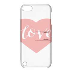 Love Valentines Heart Pink Apple Ipod Touch 5 Hardshell Case With Stand by Alisyart