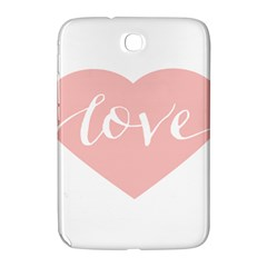 Love Valentines Heart Pink Samsung Galaxy Note 8 0 N5100 Hardshell Case  by Alisyart