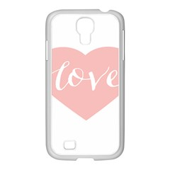 Love Valentines Heart Pink Samsung Galaxy S4 I9500/ I9505 Case (white)