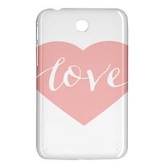Love Valentines Heart Pink Samsung Galaxy Tab 3 (7 ) P3200 Hardshell Case  by Alisyart