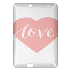 Love Valentines Heart Pink Amazon Kindle Fire Hd (2013) Hardshell Case by Alisyart