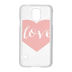 Love Valentines Heart Pink Samsung Galaxy S5 Case (white) by Alisyart
