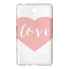Love Valentines Heart Pink Samsung Galaxy Tab 4 (8 ) Hardshell Case  by Alisyart