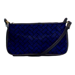 Brick2 Black Marble & Blue Leather (r) Shoulder Clutch Bag by trendistuff