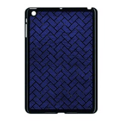 Brick2 Black Marble & Blue Leather (r) Apple Ipad Mini Case (black) by trendistuff