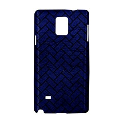Brick2 Black Marble & Blue Leather (r) Samsung Galaxy Note 4 Hardshell Case by trendistuff