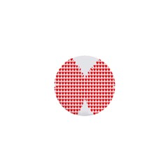 Hearts Butterfly Red Valentine Love 1  Mini Buttons by Alisyart