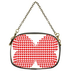 Hearts Butterfly Red Valentine Love Chain Purses (one Side)  by Alisyart