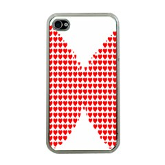 Hearts Butterfly Red Valentine Love Apple Iphone 4 Case (clear) by Alisyart