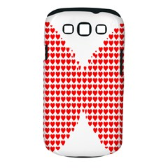 Hearts Butterfly Red Valentine Love Samsung Galaxy S Iii Classic Hardshell Case (pc+silicone)