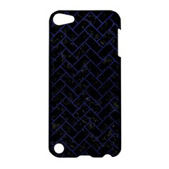 Brick2 Black Marble & Blue Leather Apple Ipod Touch 5 Hardshell Case by trendistuff