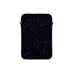 Brick2 Black Marble & Blue Leather Apple Ipad Mini Protective Soft Case by trendistuff