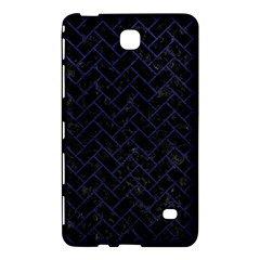 Brick2 Black Marble & Blue Leather Samsung Galaxy Tab 4 (8 ) Hardshell Case  by trendistuff