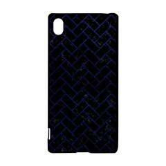 Brick2 Black Marble & Blue Leather Sony Xperia Z3+ Hardshell Case by trendistuff