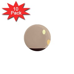 Minimalist Circle Sun Gray Brown 1  Mini Magnet (10 Pack)  by Alisyart