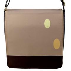 Minimalist Circle Sun Gray Brown Flap Messenger Bag (s) by Alisyart