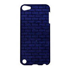Brick1 Black Marble & Blue Leather (r) Apple Ipod Touch 5 Hardshell Case by trendistuff