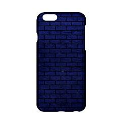 Brick1 Black Marble & Blue Leather (r) Apple Iphone 6/6s Hardshell Case by trendistuff