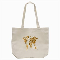Map Dotted Gold Circle Tote Bag (cream) by Alisyart