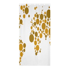 Map Dotted Gold Circle Shower Curtain 36  X 72  (stall)  by Alisyart