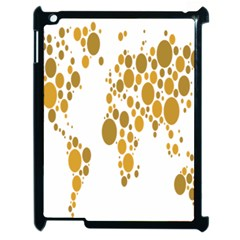 Map Dotted Gold Circle Apple Ipad 2 Case (black) by Alisyart