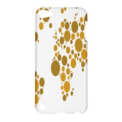 Map Dotted Gold Circle Apple Ipod Touch 5 Hardshell Case by Alisyart