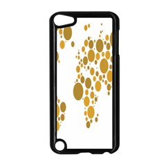 Map Dotted Gold Circle Apple Ipod Touch 5 Case (black) by Alisyart