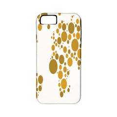 Map Dotted Gold Circle Apple Iphone 5 Classic Hardshell Case (pc+silicone) by Alisyart