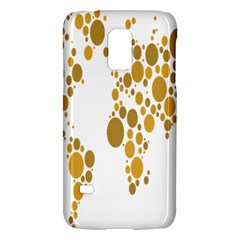 Map Dotted Gold Circle Galaxy S5 Mini by Alisyart