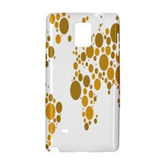 Map Dotted Gold Circle Samsung Galaxy Note 4 Hardshell Case by Alisyart